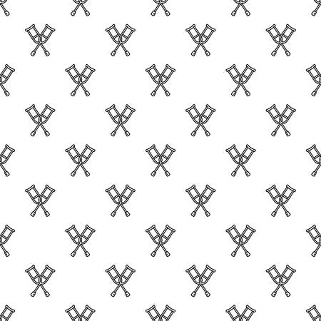 Crutches pattern seamless repeat background for any web design Ilustrace