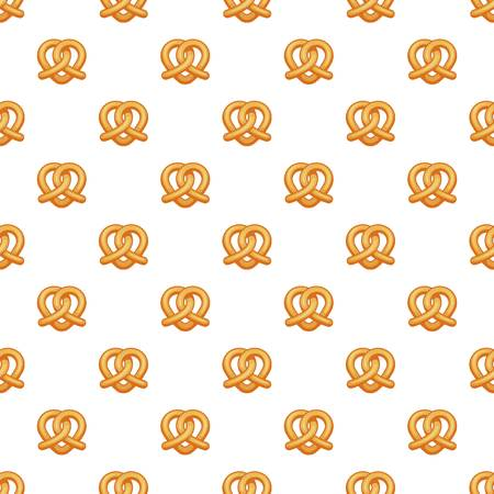 Heart pretzel pattern seamless repeat background for any web design