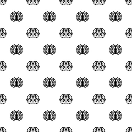 Front side brain pattern seamless repeat background for any web design
