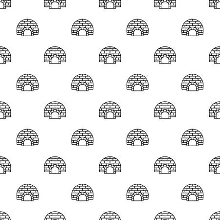 Arctic igloo pattern seamless repeat background for any web design