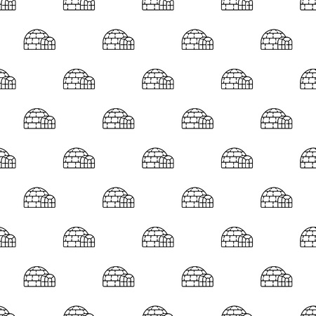 Polar igloo pattern seamless repeat background for any web design