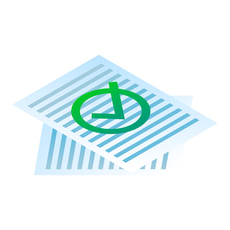 Approved paper icon. Isometric of approved paper vector icon for web design isolated on white background