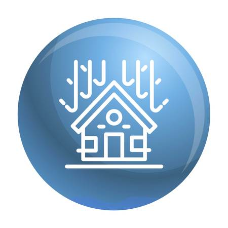 Protected house roof icon. Outline protected house roof vector icon for web design isolated on white background Ilustração