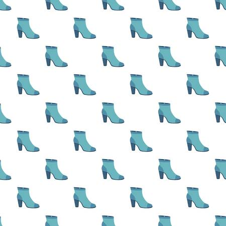 Blue woman shoe pattern seamless repeat background for any web design Illustration