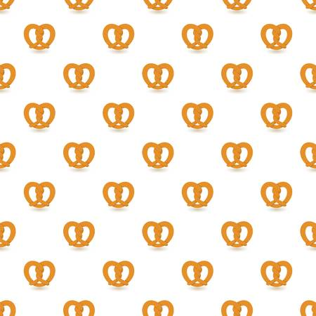 Traditional pretzel pattern seamless repeat background for any web design