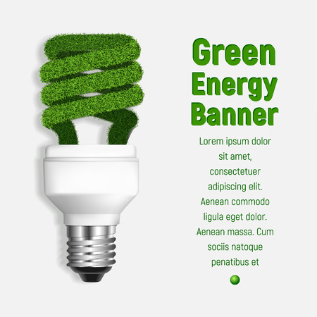 Green energy concept background. Realistic illustration of green energy vector concept background for web design