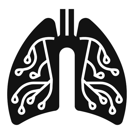Pneumonia lungs icon. Simple illustration of pneumonia lungs vector icon for web design isolated on white background