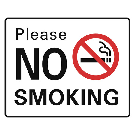 Please no smoking icon. Simple illustration of please no smoking vector icon for web design isolated on white background Stock Illustratie
