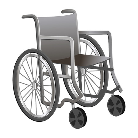 Wheelchair icon. Cartoon of wheelchair vector icon for web design isolated on white background