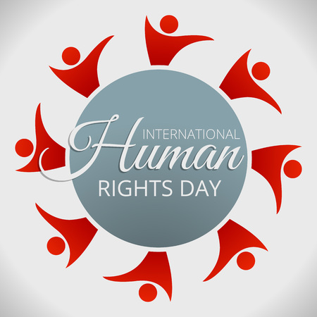 Human rights day concept background. Cartoon illustration of human rights day vector concept background for web design
