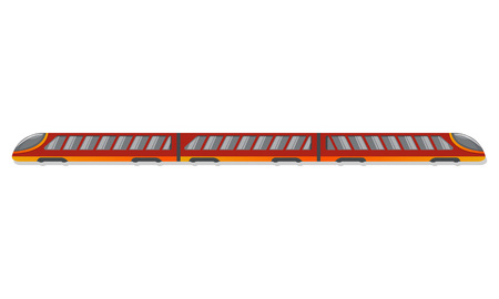 Metro train icon. Cartoon of metro train vector icon for web design isolated on white background