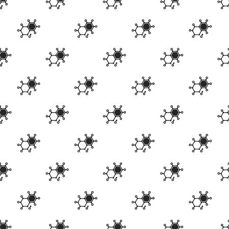 Chemical element molecule pattern seamless repeat background for any web design