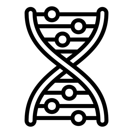 Dna formula icon. Outline dna formula icon for web design isolated on white background 스톡 콘텐츠