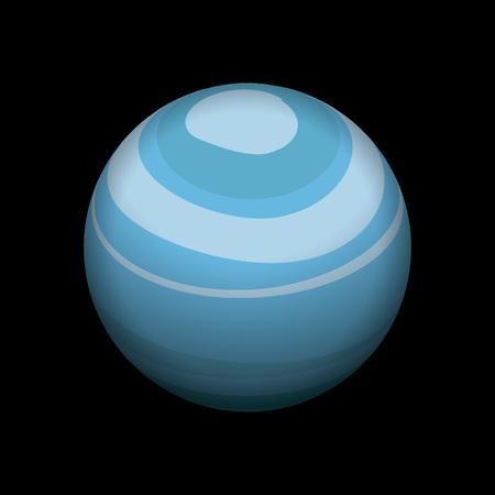 Uranus icon. Isometric of uranus icon for web design isolated