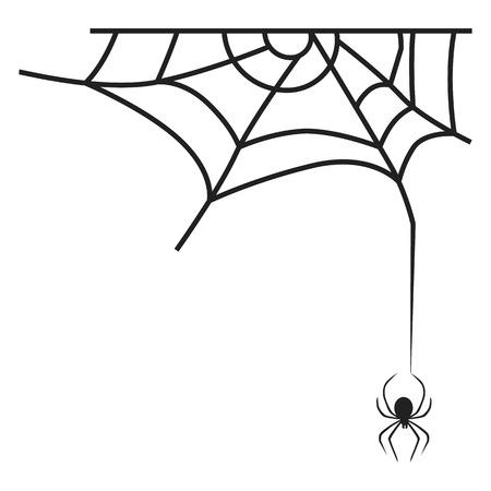 Cross spider web icon. Simple illustration of cross spider web icon for web design isolated on white background Stockfoto