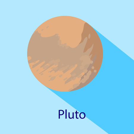 Pluto planet icon. Flat illustration of pluto planet icon for web design