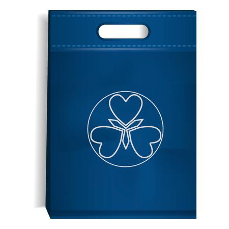 Blue eco bag icon. Realistic illustration of blue eco bag icon for web design