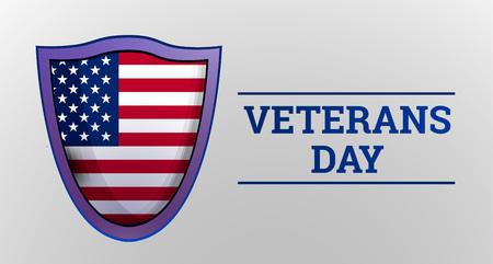 Veterans day concept background. Realistic illustration of veterans day concept background for web design
