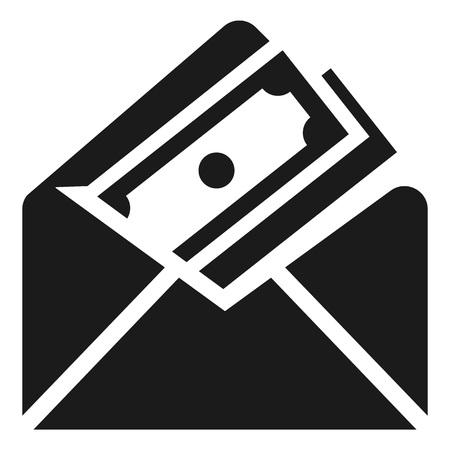 Money envelope icon. Simple illustration of money envelope icon for web design isolated on white background Stock Photo