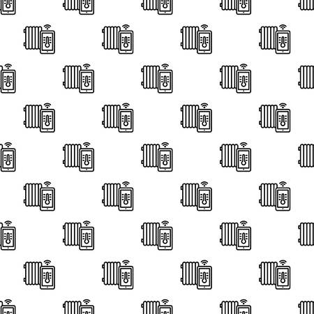 Smart thermal house pattern seamless repeat background for any web design