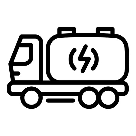Truck energy icon. Outline truck energy vector icon for web design isolated on white background 矢量图像