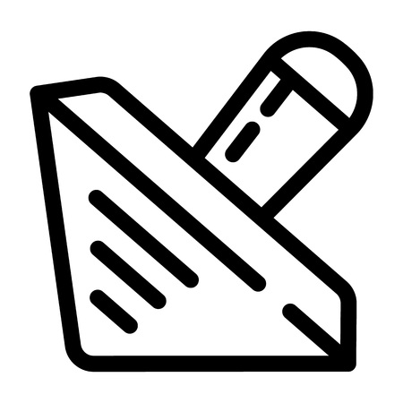 Wood dreidel icon. Outline wood dreidel vector icon for web design isolated on white background Illustration