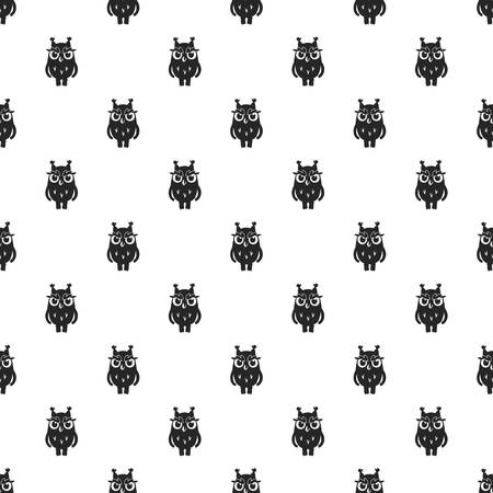Owl pattern seamless repeat background for any web design