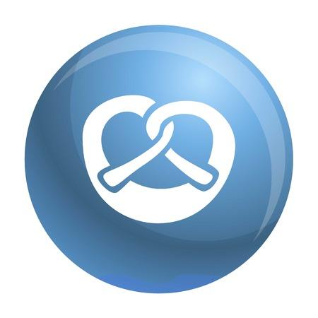 Bavarian pretzel icon. Simple illustration of bavarian pretzel vector icon for web design isolated on white background
