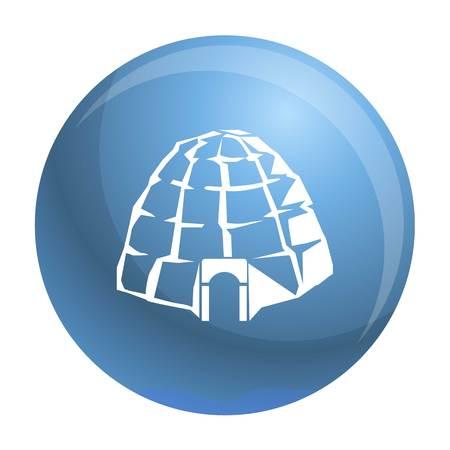 Eskimo igloo icon. Simple illustration of eskimo igloo vector icon for web design isolated on white background