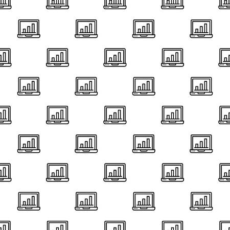 Finance laptop pattern seamless repeat background for any web design