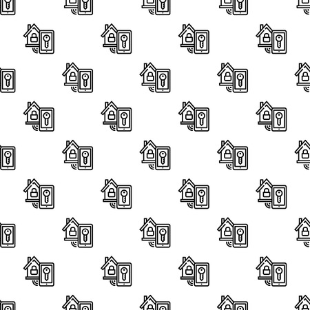 Smart house lock pattern seamless repeat background for any web design