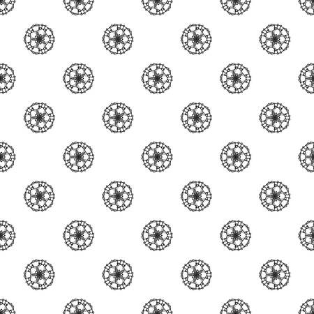 Abstract flower pattern seamless repeat background for any web design