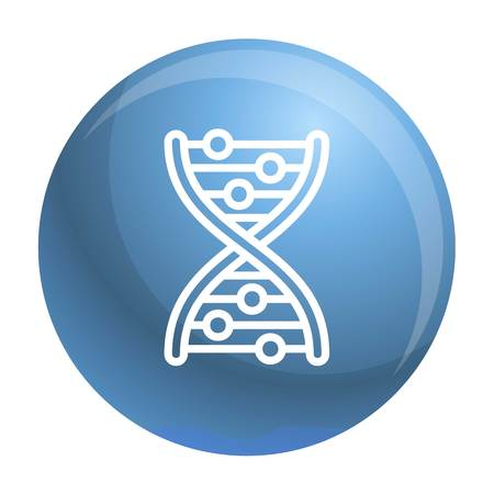 Dna formula icon. Outline dna formula icon for web design isolated on white background Banco de Imagens
