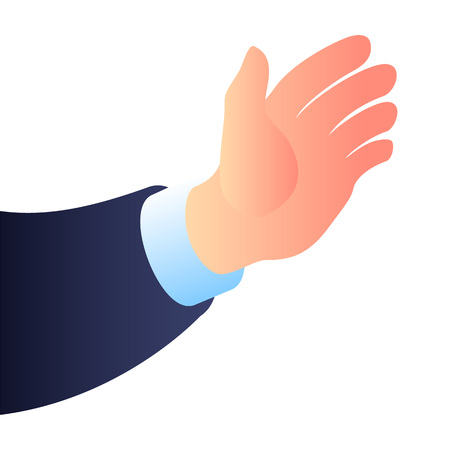 Businessman hand icon. Isometric of businessman hand icon for web design isolated on white background