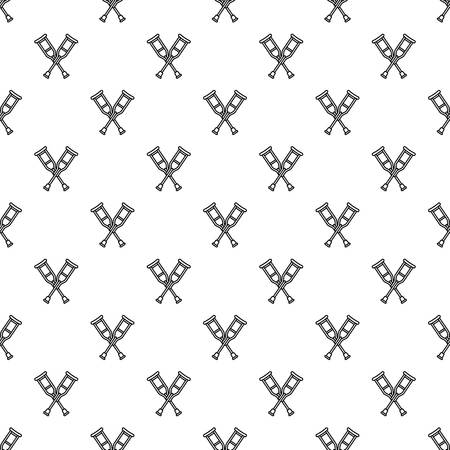 Wood crutches pattern seamless repeat background for any web design