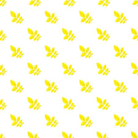Yellow autumn leaf pattern seamless repeat background for any web design