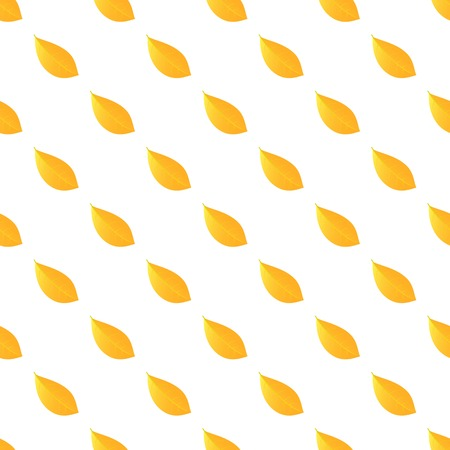 Yellow leaf pattern seamless repeat background for any web design Stock Photo