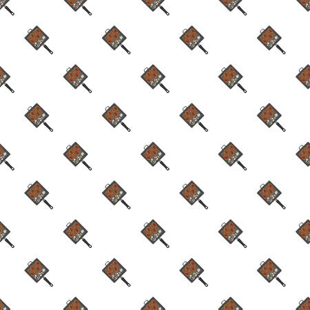 Bbq grill griddle pattern seamless repeat background for any web design Stock Photo