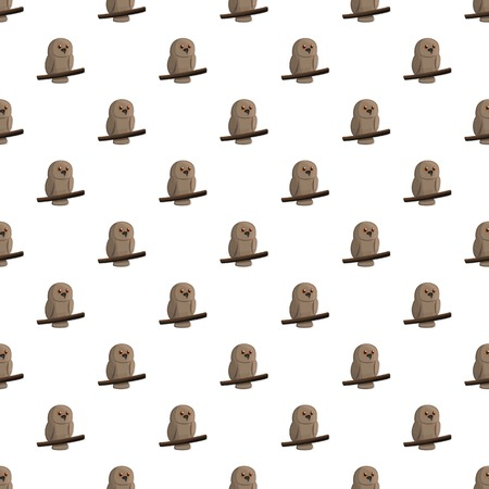 Brown owl pattern seamless repeat background for any web design Stock fotó