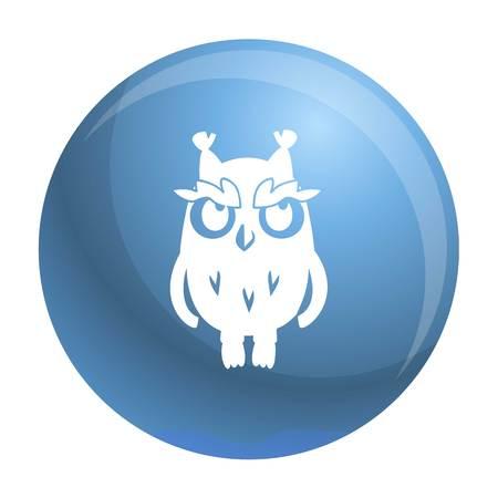 Eulensymbol. Einfache Illustration der Eulenvektorikone für Webdesign lokalisiert auf weißem Hintergrund