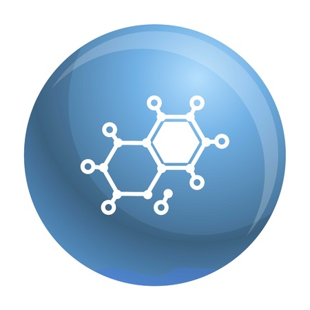 Chemical element molecule icon. Simple illustration of chemical element molecule vector icon for web design isolated on white background