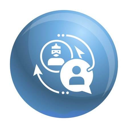 Phishing personal data icon. Simple illustration of phishing personal data vector icon for web design isolated on white background Illustration
