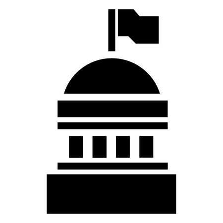 White house icon. Simple illustration of white house vector icon for web design isolated on white background