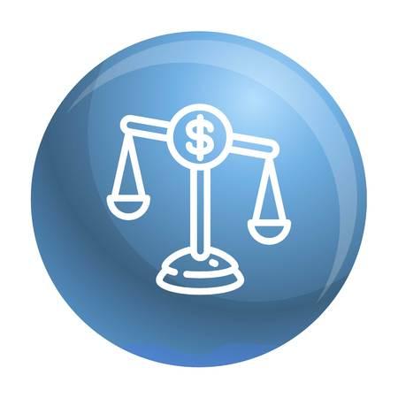 Money balance icon. Outline money balance icon for web design isolated on white background Archivio Fotografico