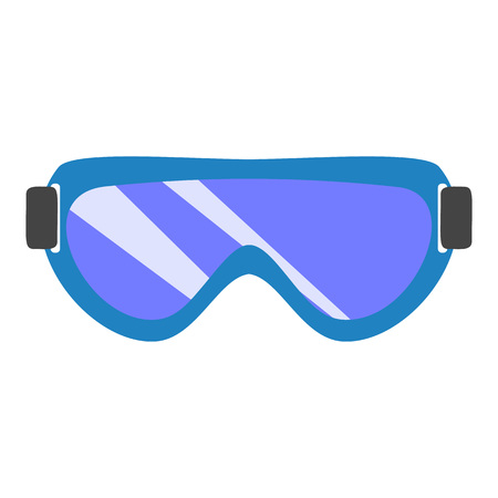 Chemical glasses icon. Flat illustration of chemical glasses icon for web design