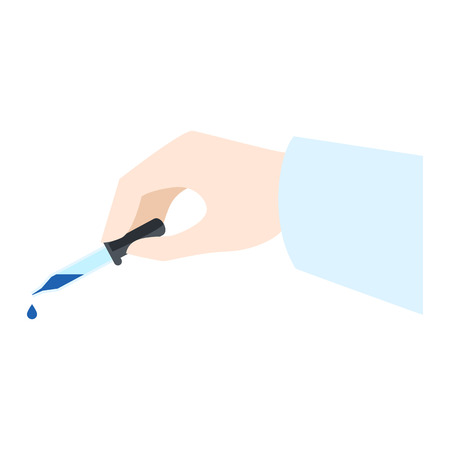 Hand pipette icon. Flat illustration of hand pipette icon for web design