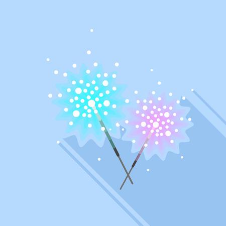 Bengal light stick icon. Flat illustration of bengal light stick icon for web design Stock Photo
