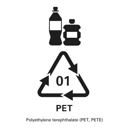 Polyethylene terephthalate icon. Simple illustration of polyethylene terephthalate icon for web design isolated on white background