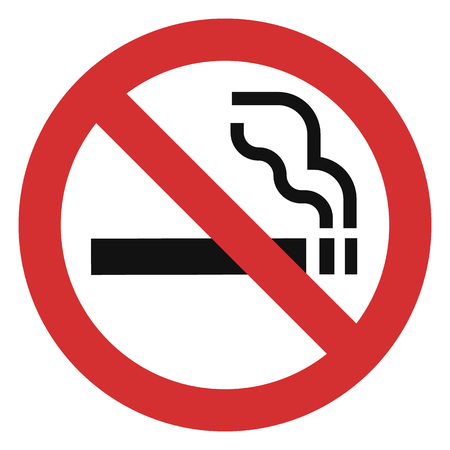 No smoking red icon. Simple illustration of no smoking red icon for web design isolated on white background