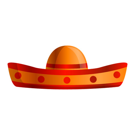 Mexican sombrero icon. Cartoon of mexican sombrero icon for web design isolated on white background Stock Photo